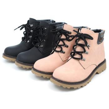 【 cher美鞋】MIT英倫風高雅率真短靴(黑/粉)♥LKRR-C