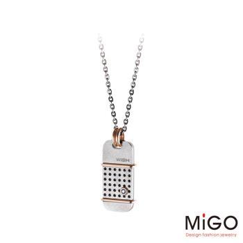 MiGO 希望Wish施華洛世奇美鑽/白鋼女項鍊