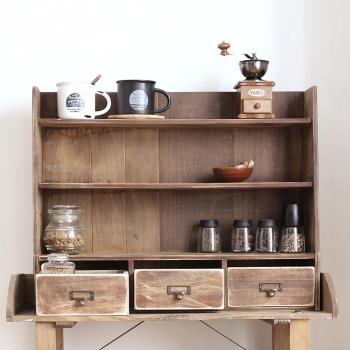 CiS自然行實木家具 三層置物-三抽-經典雜貨櫃M款-復古焦糖色