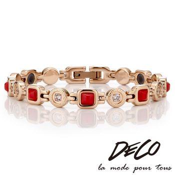 DECO X MASSA-G【風華絕代】紅瑪瑙精鋼手環