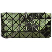 ISSEY MIYAKE 三宅一生BAOBAO幾何方格4x8鍊帶斜背包(綠)