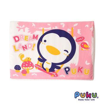 PUKU藍色企鵝 波浪乳膠枕42*30cm-粉色