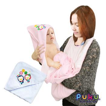PUKU藍色企鵝 寶寶沐浴圍裙-粉色