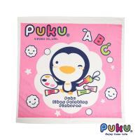 PUKU藍色企鵝 四方浴巾-90*90cm-粉色