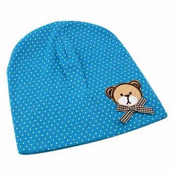【iSFun】領結小熊*點點兒童棉帽/三色可選