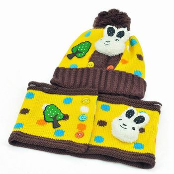 【iSFun】圓點兔兔*兒童護耳帽+圍巾組/二色可選