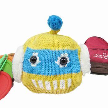 【iSFun】可愛機器人*俏皮毛線護耳帽/二色可選