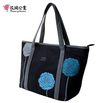 花間公主 三色花氣質韓版包潮流單肩包