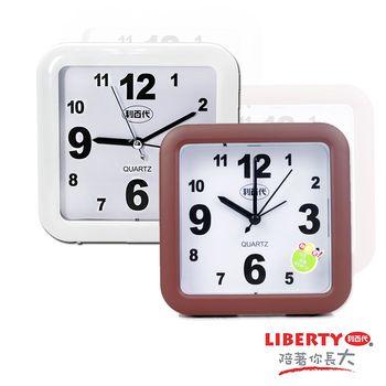 【LIBERTY利百代】簡約時尚-大型夜光和弦音樂靜音鬧鐘FS-8821