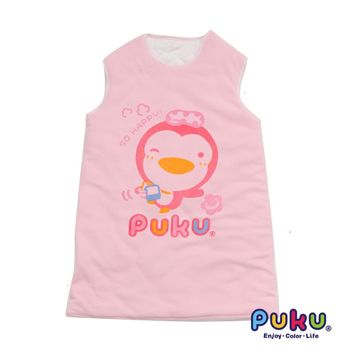 PUKU藍色企鵝 暖暖防踢睡袍L-粉色