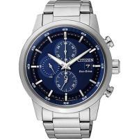 CITIZEN 星辰 Eco-Drive光動能情人節推薦計時腕錶/ 藍/ 43mm/ CA0610-52L