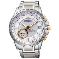 CITIZEN 星辰 Eco-Drive 商務科技半金衛星對時男用腕錶-雙色錶帶/44mm/CC3006-58A