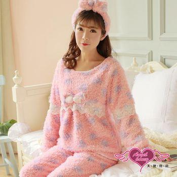 天使霓裳  保暖睡衣 毛絨蝶戀 法蘭絨日系二件式居家服(粉紫F) UC8902