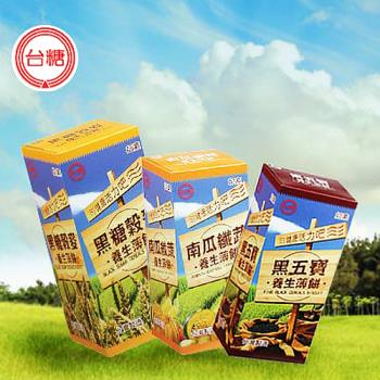 台糖 養生薄餅12盒(120公克/黑糖4盒/黑五寶4盒/南瓜4盒)