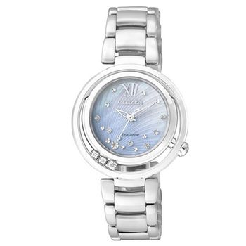 CITIZEN-光動能CITIZEN L-純粹之美真鑽璀璨腕錶(銀-31-EM0327-50D)