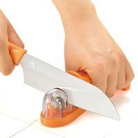日本製造Shimomura金剛石三用漾彩磨刀器(鮮紅橘)