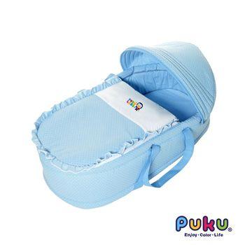 PUKU藍色企鵝 卡哇伊睡箱-水色