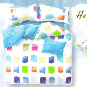 『Luo mandi 羅曼蒂』100% 棉雙人四件式被套床包組 (色彩狂想)