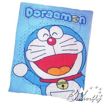 【Doraemon哆啦A夢】 搖粒絨 刷毛暖暖被 毯被 正版授權 歡樂無限-藍