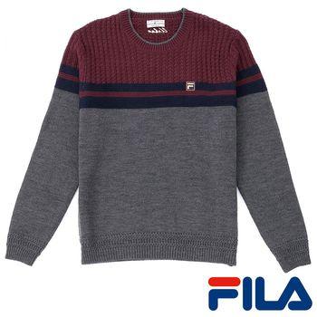 FILA男仕紳士學院風格針織線衫(沉穩灰)1SWP-5703-RG