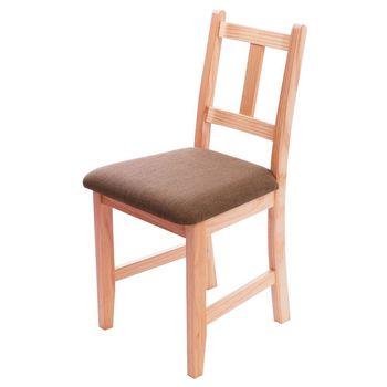 CiS自然行實木家具- Avigons南法原木椅(溫暖柚木色)深咖啡椅墊