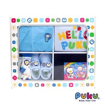 PUKU藍色企鵝 男童週歲禮盒