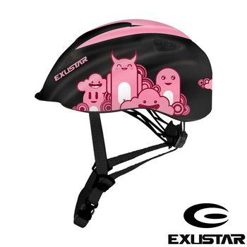 EXUSTAR 自行車兒童安全帽 (黑粉)
