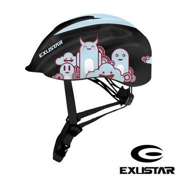 EXUSTAR 自行車兒童安全帽 (黑藍)