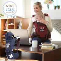 【ViVibaby】Disney迪士尼米奇米妮坐墊型背巾(紅/藍)