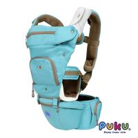 PUKU藍色企鵝 AIR機能腰凳型1+1揹巾-湖水綠