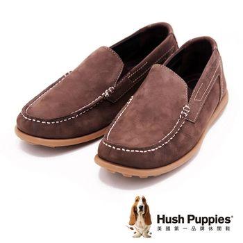 Hush Puppies 男士休閒直套式便鞋 男鞋-棕(另有藍)