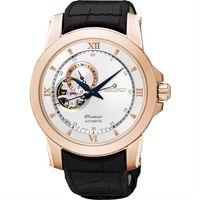 SEIKO Premier 開芯鏤空視窗機械腕錶-銀x玫塊金/40mm 4R39-00P0P(SSA326J1)