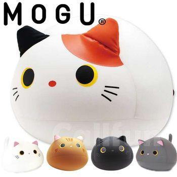 【日本MOGU】幸福Q胖貓 可愛抱枕/舒壓靠枕‧日本原裝進口