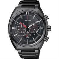 CITIZEN 星辰 Eco-Drive 光動能跨時代計時腕錶-黑/ 43mm CA4285-50H
