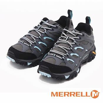 MERRELL MOAB GORE-TEX輕量彈性防水女鞋-鐵灰