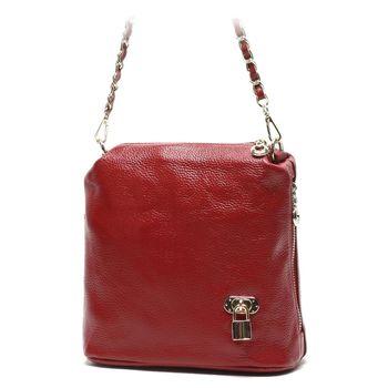 【BAIKAL】小巧鎖鏈手提肩背牛皮兩用包(共2色)