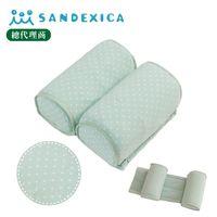 台灣總代理 日本Sandexica寶寶機能防側翻枕/兒童護頸枕- 粉藍點點