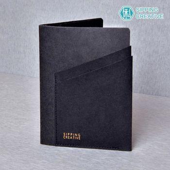 俬品創意 - 設計款紙革護照夾-極簡黑