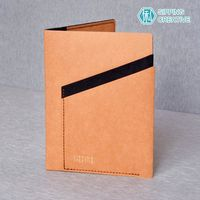 俬品創意 - 設計款紙革護照夾-時尚駝