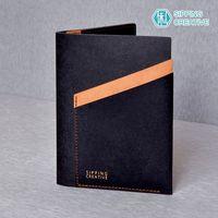 俬品創意 - 設計款紙革護照夾-時尚黑