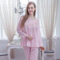 【MFN蜜芬儂】MIT-花肌美人100%精梳棉薄長袖睡衣(2色)