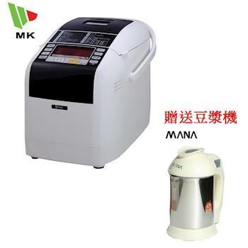 ( 即日起買就送 MANA豆漿機 ) MK SEIKO 數位全功能製麵包機 HBK-150T