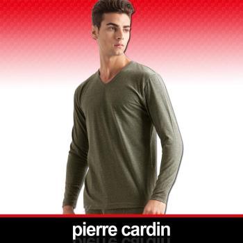 Pierre Cardin皮爾卡登 舒適保暖彈力棉V領長袖衫