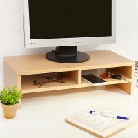 【澄境】木紋花色雙格收納空間桌上架 -四色可選