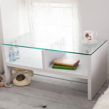 【澄境】二代經典強化玻璃雙格茶几桌 -二色可選