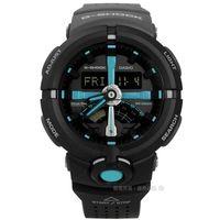 G-SHOCK CASIO / GA-500P-1A / 卡西歐多層次前衛城市世界雙色橡膠手錶 黑色 48mm