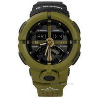 G-SHOCK CASIO / GA-500P-3A / 卡西歐多層次前衛城市世界雙色橡膠手錶 橄欖綠色 48mm