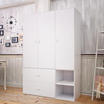 【澄境】上下座獨立型三門收納衣櫃斗櫃