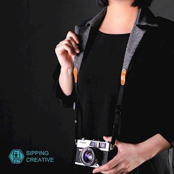 俬品創意 - 設計款衣領相機背帶 (人字紋)