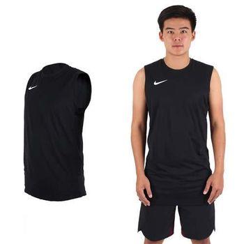 【NIKE】男針織背心 -路跑 慢跑 球衣 籃球背心 運動背心 黑白